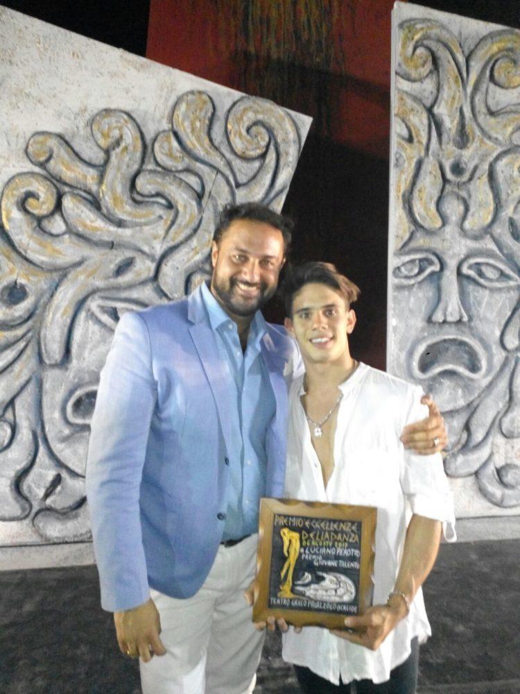 con Luciano Perotto - Teatro Greco Festival