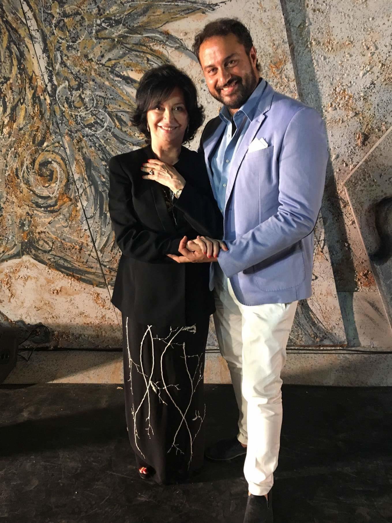 con Maria Grazia Garofoli Teatro Greco Festival