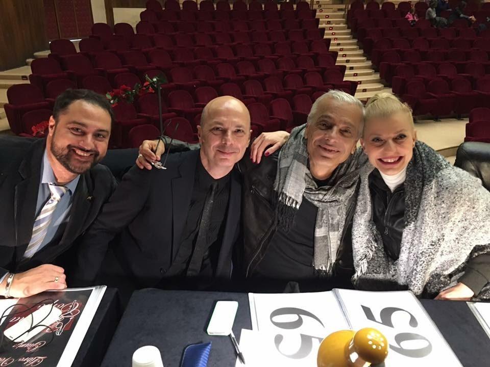 con Davide Bombana, George Iancu e Mia Molinari, Giuria Concorso Napoli