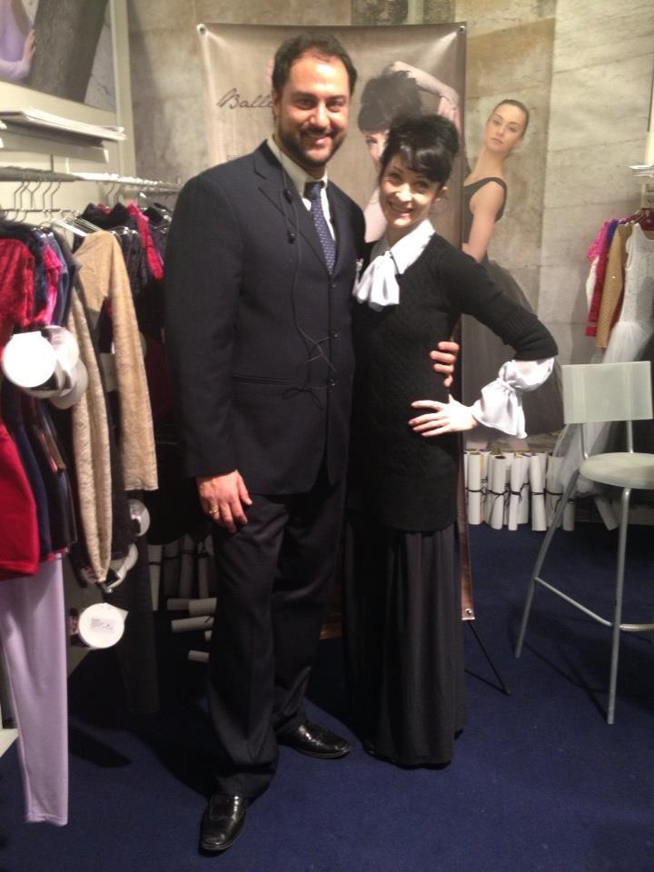 con Isabelle Ciaravola - Prima Ballerina Opera di Parigi