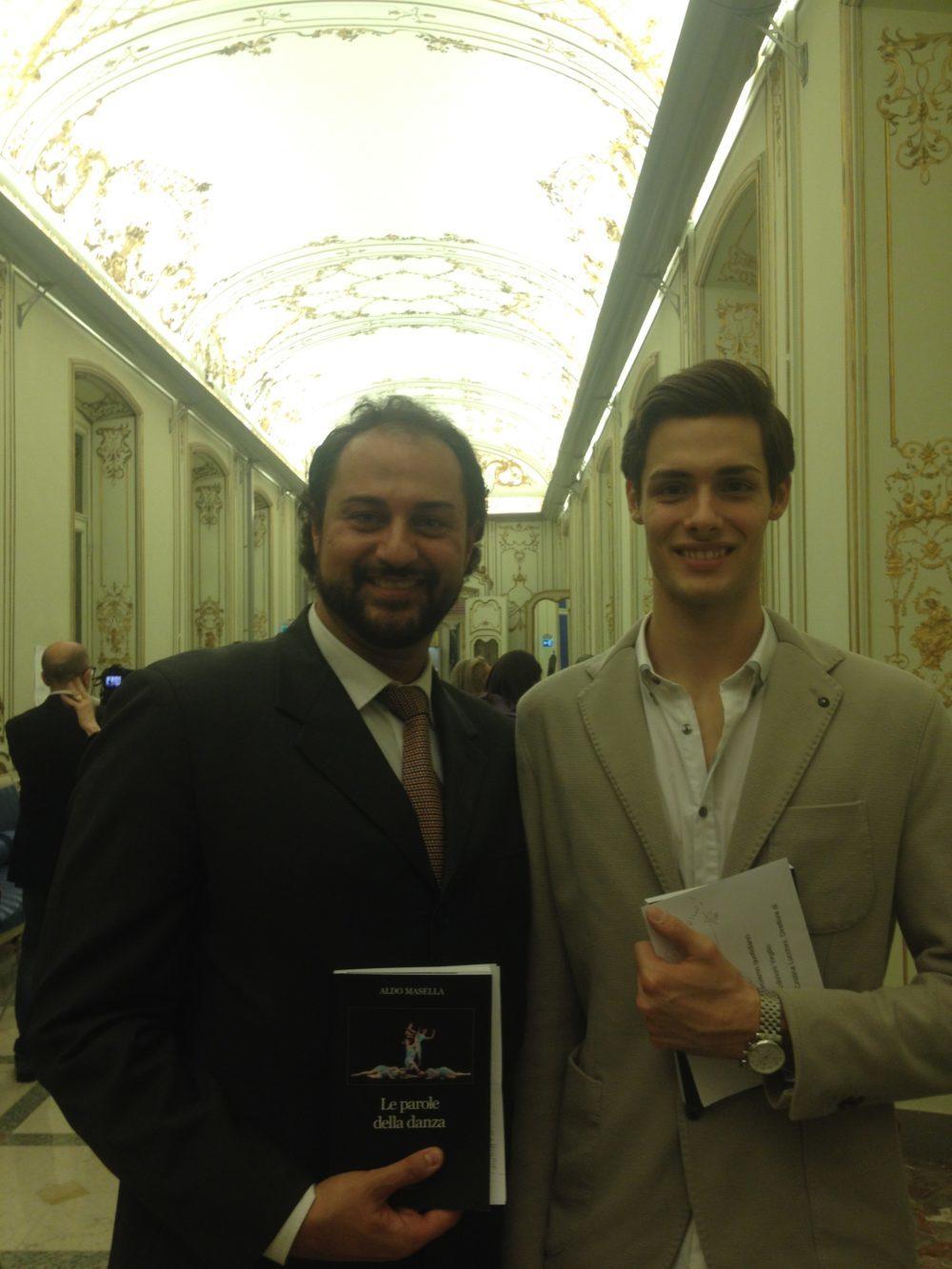 con Jacopo Tissi, Circolo della Stampa, Milano