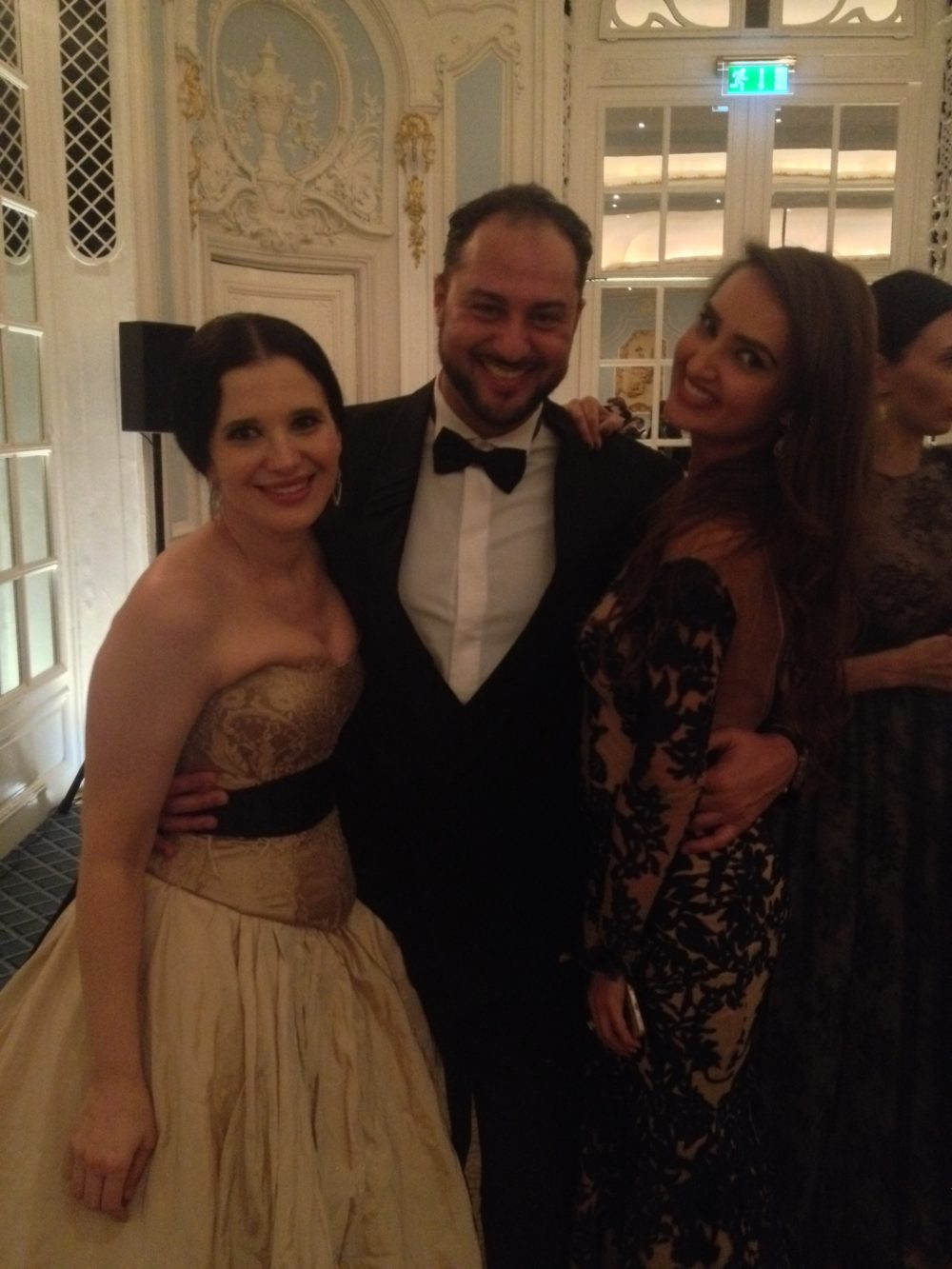 con Olga Balakeets e Amina Senford, Russian Icons Gala, Londra