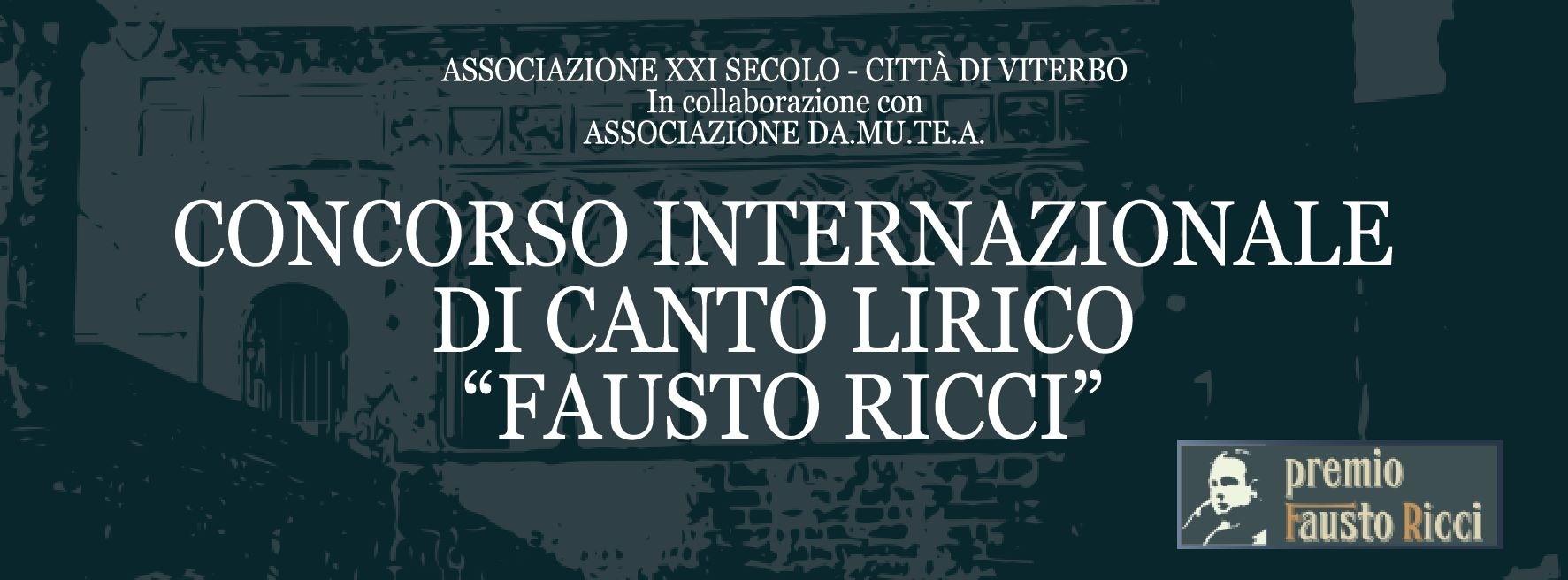 Concorso Internazionale di Canto Lirico Fausto Ricci