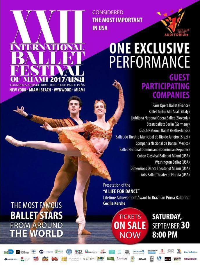 Porto l'ITALIA all' International Ballet Festival di Miami