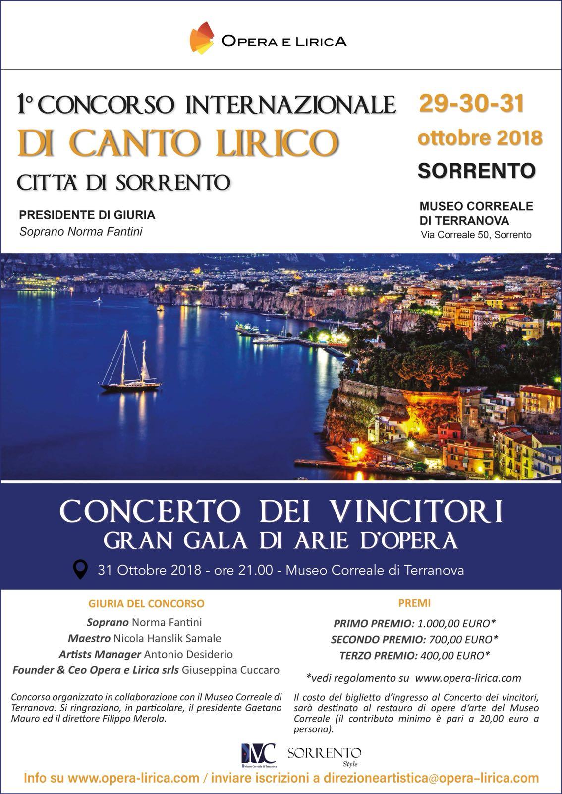 CONCORSO LIRICO OPERA E LIRICA COMPETITION – MUSEO CORREALE DI SORRENTO