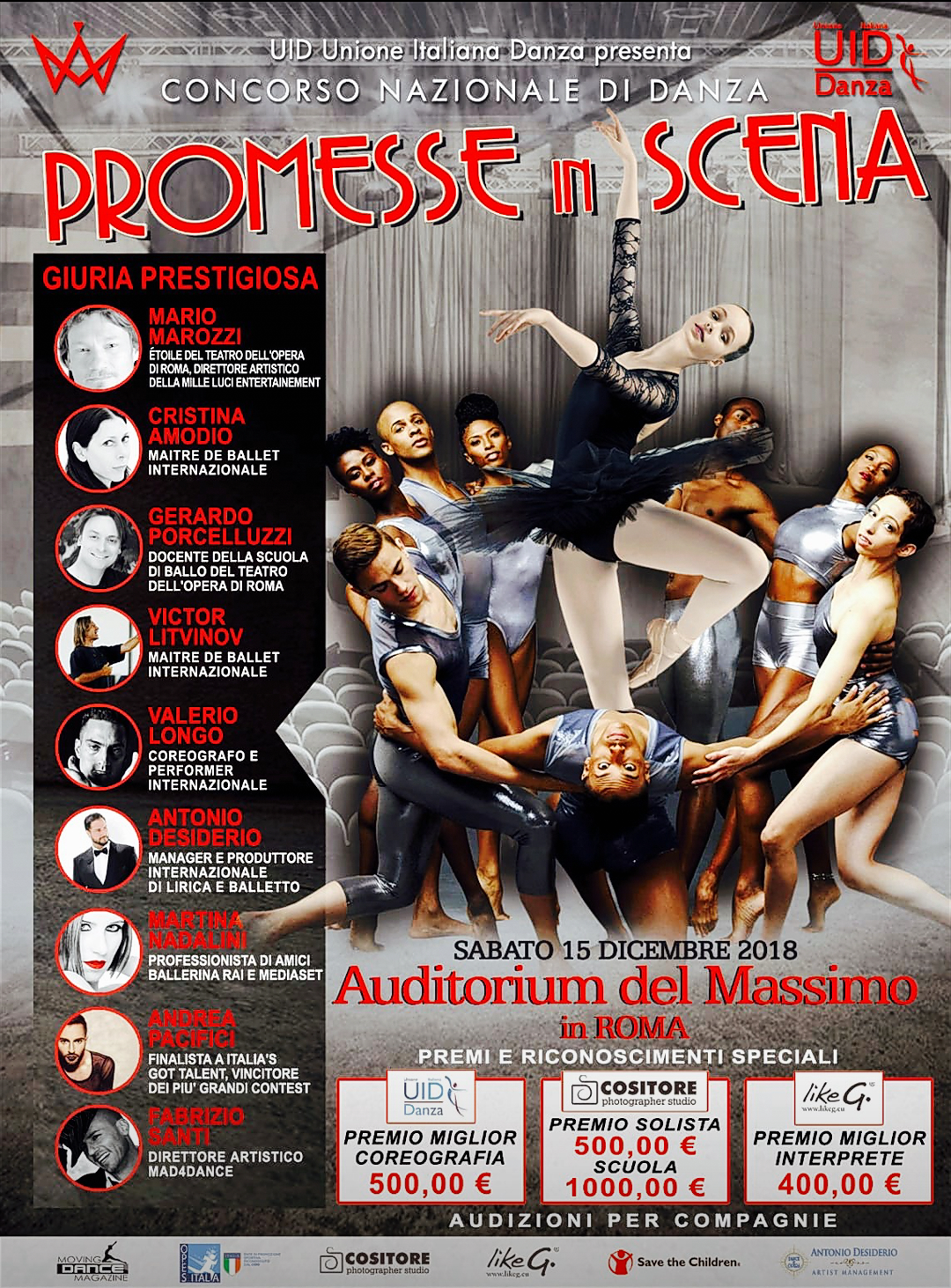 """""""PROMESSE IN SCENA"""", Auditorium de Massimo, Roma"""