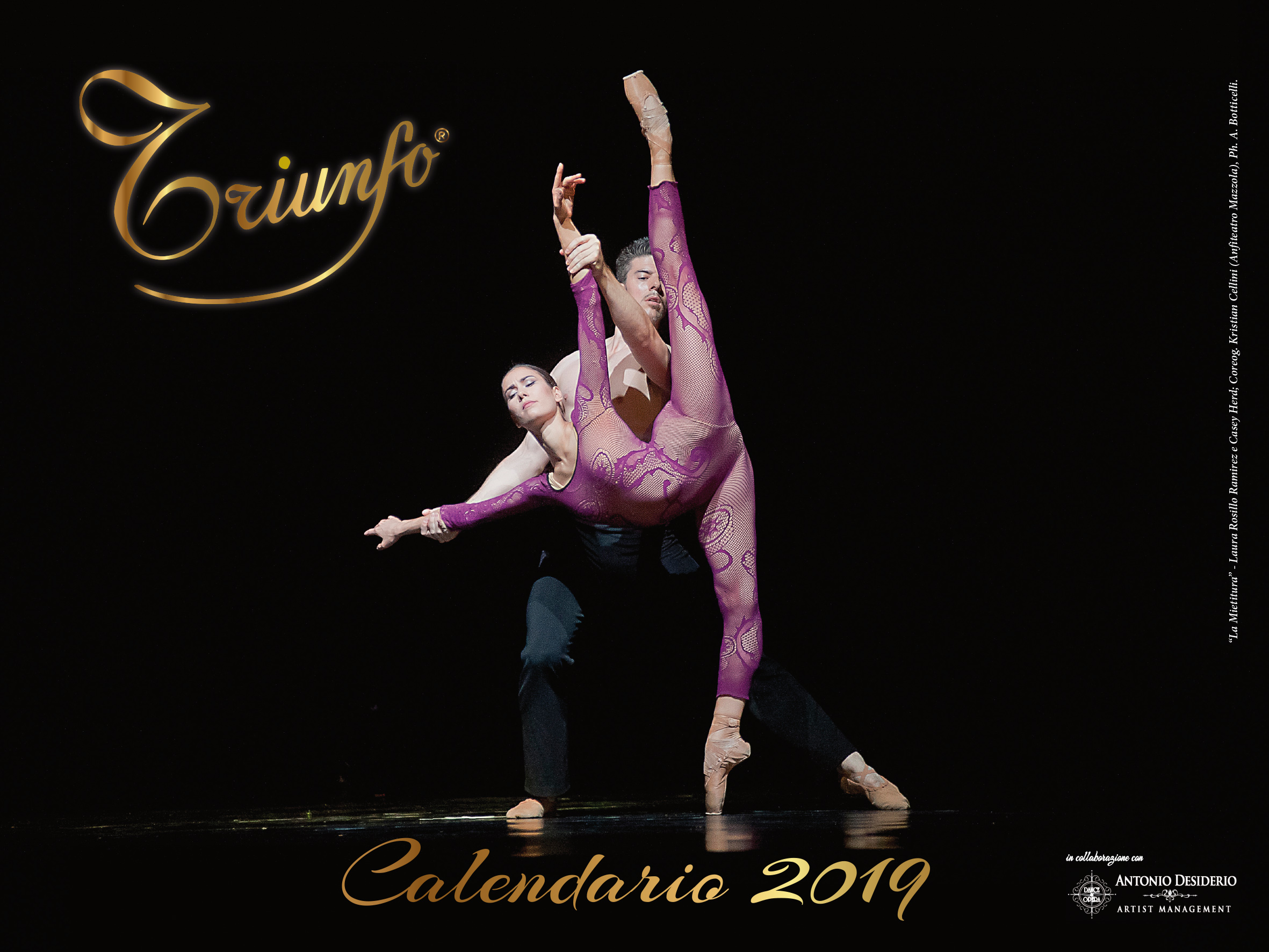 CALENDARIO TRIUNFO 2019 in collaborazione con ANTONIO DESIDERIO ARTIST MANAGEMENT