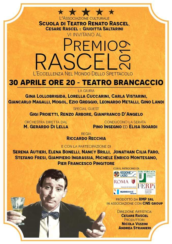 PREMIO RASCEL, Teatro Brancaccio, Roma