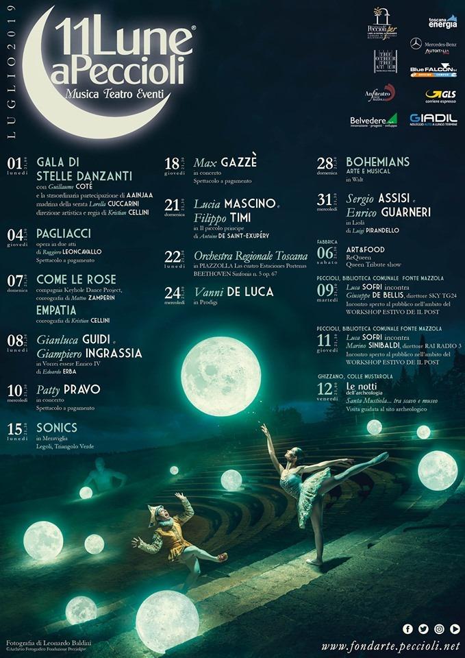 GALA DELLE STELLE DANZANTI – Festival 11 Lune di Peccioli, Anfiteatro Mazzola