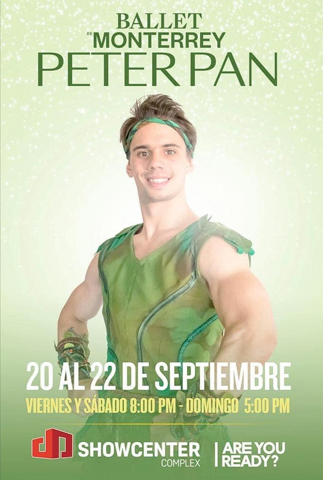 LUCIANO PEROTTO E' PETER PAN, Ballet de Monterrey, Messico