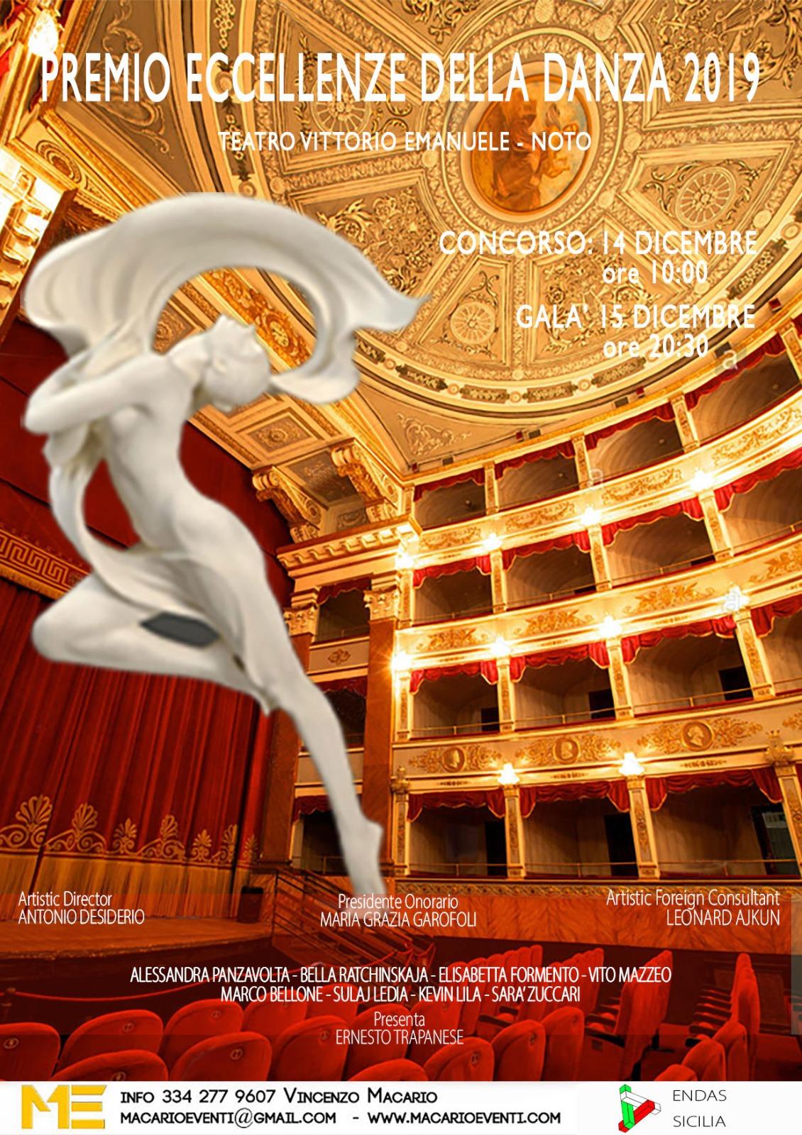PREMIO ECCELLENZE DELLA DANZA, Teatro Tina De Lorenzo, Noto