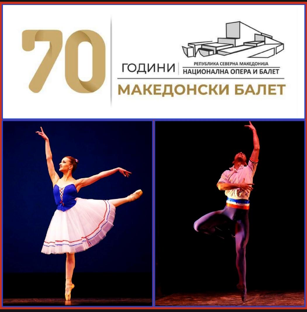 70mo GRAN GALA DEL BALLETTO, Teatro dell'Opera di Skopje, Macedonia