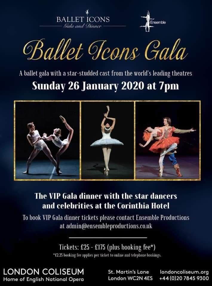 RUSSIAN BALLET ICONS GALA, Teatro Coliseum di Londra