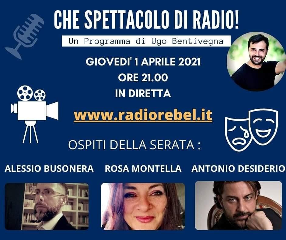 Antonio Desiderio ospite a Radio Rebel