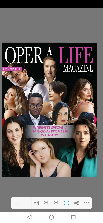 L'Etoile Sabrina Brazzo sul nuovo numero di Operalife