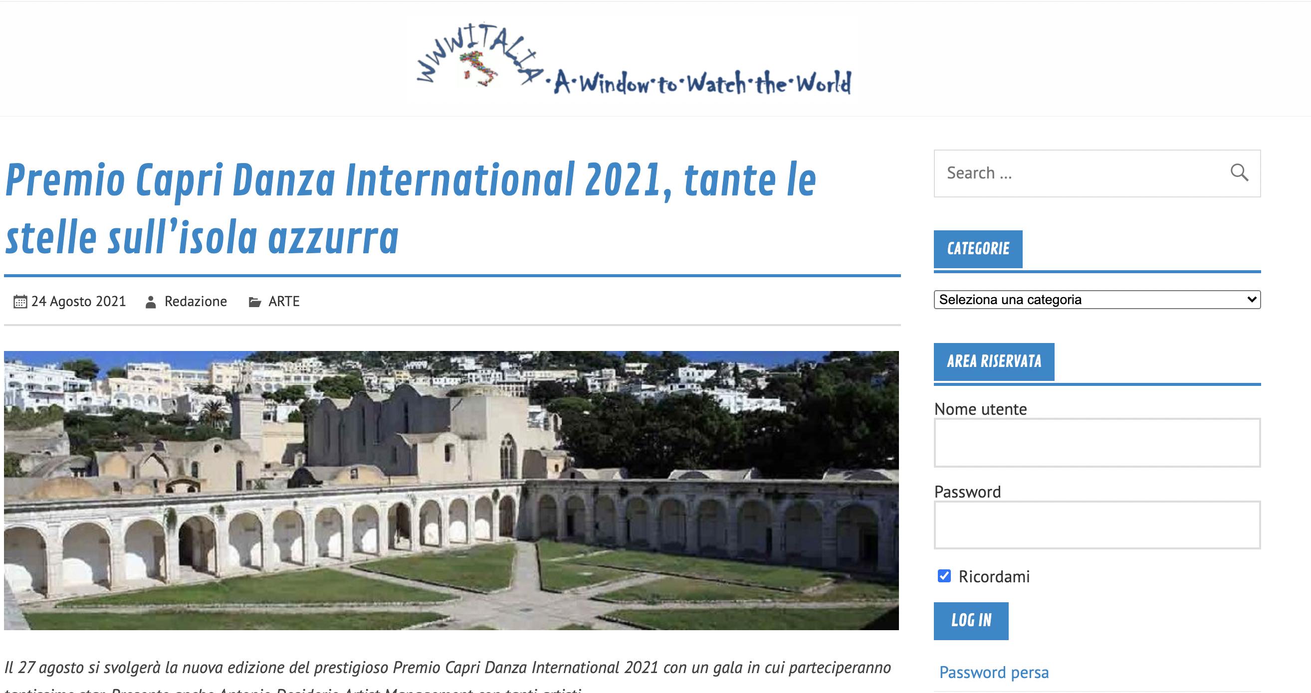 Premio Capri Danza International – Italia.eu