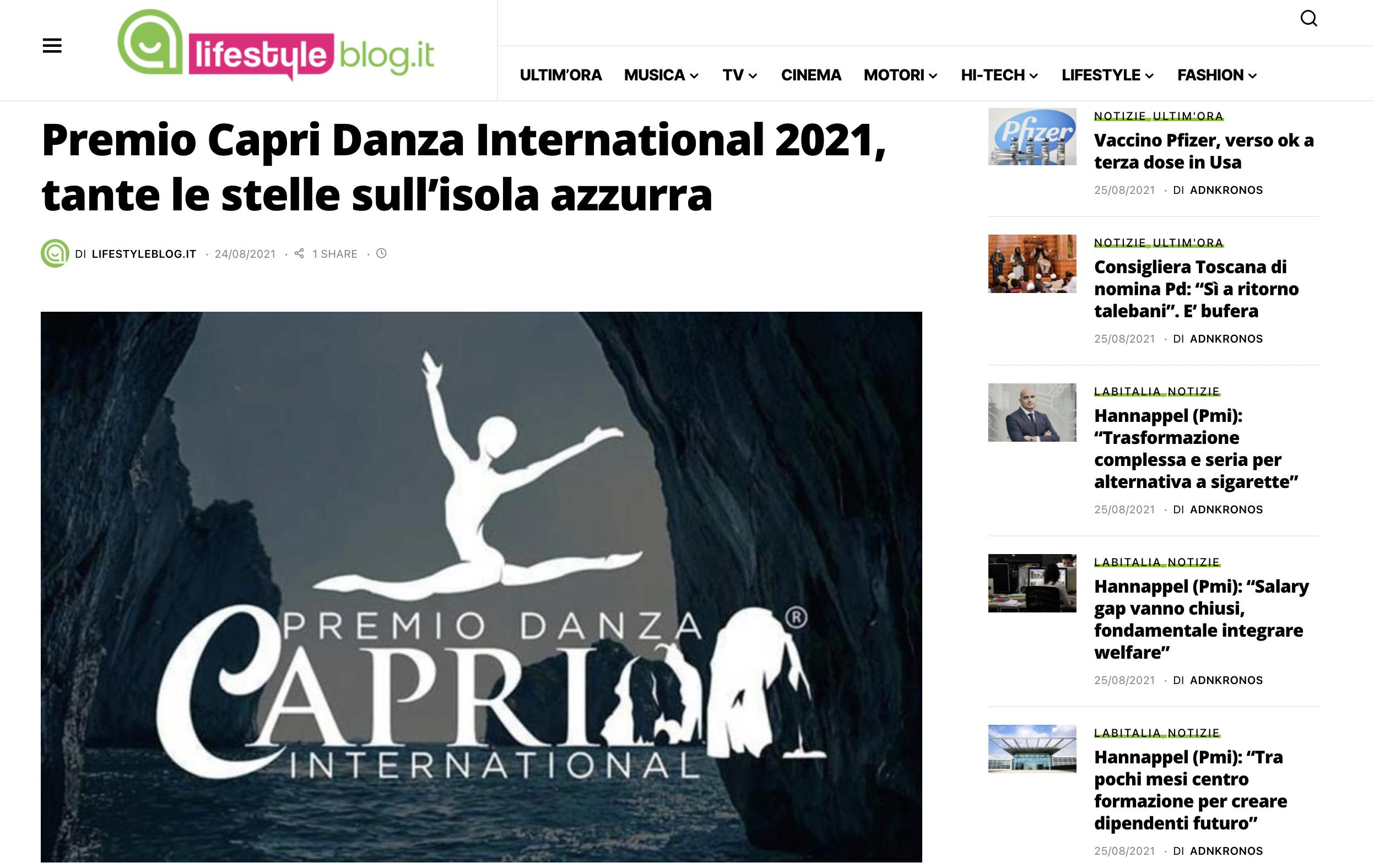 Premio Capri Danza International – LifestyleBlog
