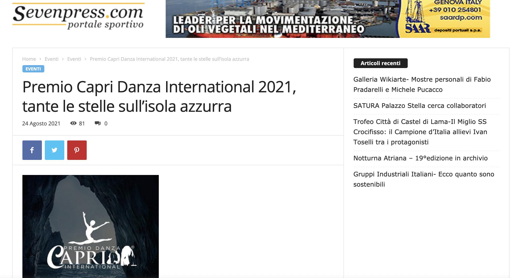 Premio Capri Danza International – SevenPress