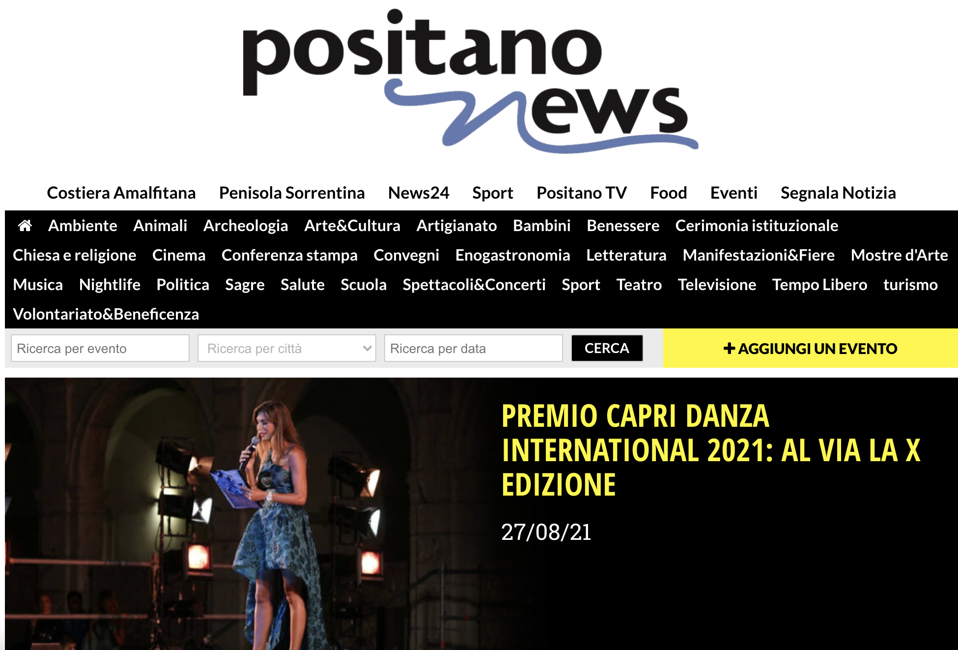 Premio Capri Danza International – PositanoNews